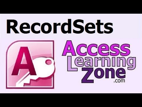 Microsoft Access Advanced: RecordSets to Access Data in VBA