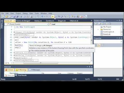 Visual Basic Tutorial - 161 - Game Part 17   Attaching The Log To The Game