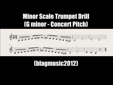 A Minor Scale Trumpet Drill Backing Track