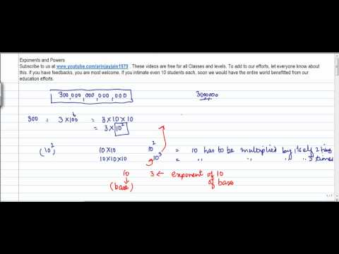 406.Class VII - Mathematics Exponents and Powers