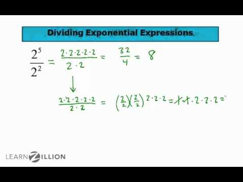 Divide exponential expressions part 1 - 8.EE.1