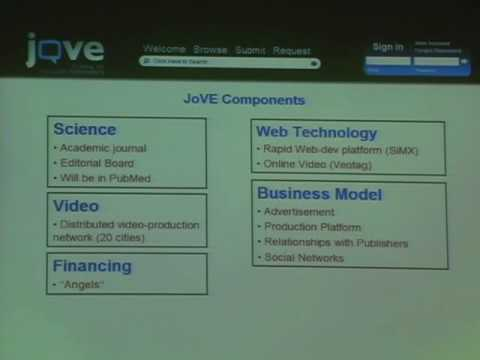 ScienceFoo Campers: JoVE (Journal of Visualized Experiments)