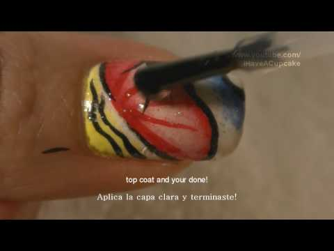 Funky Abstract Nail Art Tutorial / Arte para las unas estilo Pintura fracesa