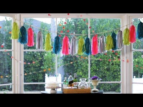 Paper Garlands: How to Make || KIN DIY