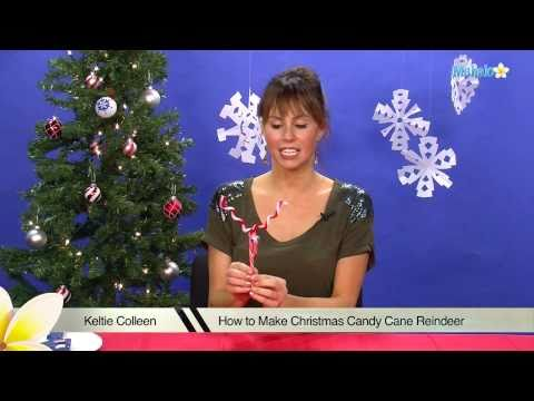 How to Make Christmas Candy Cane Reindeer