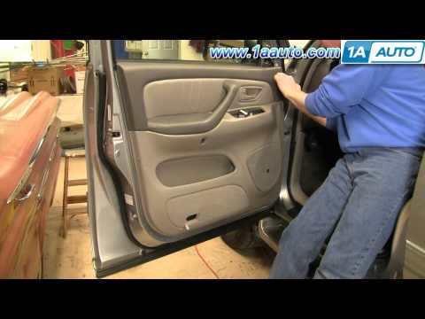 How To Install Replace Remove Door Panel Toyota Sequoia 01-04 1AAuto.com