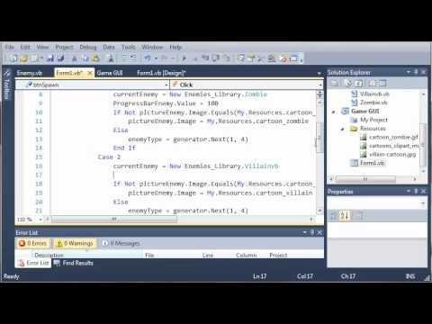 Visual Basic Tutorial - 149 - Game Part 5   Creating New Enemies