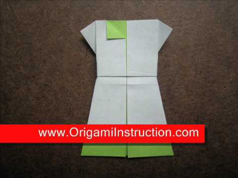 How to Fold Origami One Piece Dress - OrigamiInstruction.com