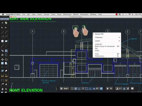 Use Gestures to Navigate a Drawing: AutoCAD LT 2013 for Mac
