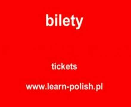 "How do you say ""Tickets, please"" in Polish."