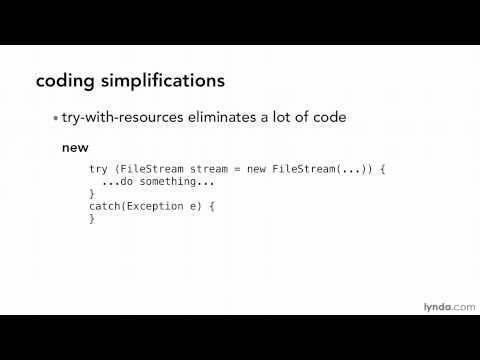 Java tutorial: An overview of Java 7 new features   lynda.com