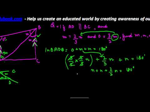 765.Transversal and Parellel Lines   Finding values of angles of quadrilateral