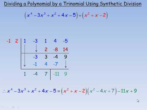 Dividing a Polynomial by a Trinomial Using Synthetic Division.mp4