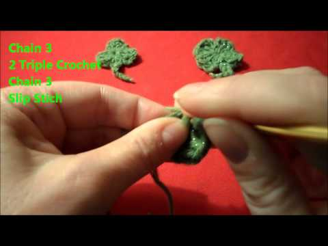 How to Crochet St Patrick's Day Shamrock & 4 Leaf Clover