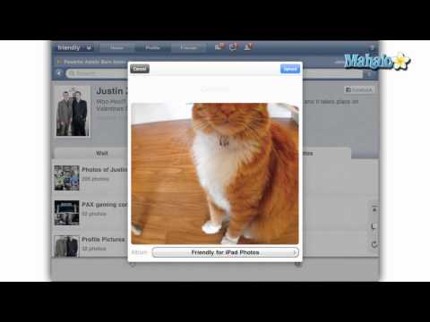 How to use Friendly for the iPad - Upload a Photo