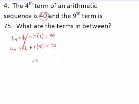 Arithmetic and Geometric Sequence Examples