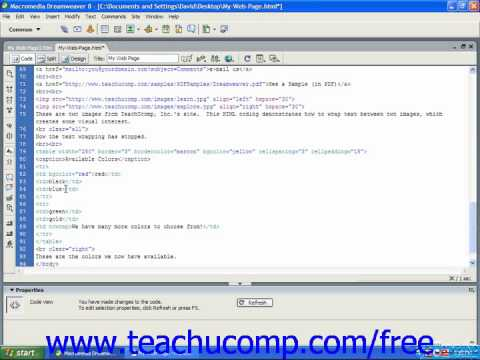 HTML Tutorial Inserting an Image into a Cell Training Lesson 9.13