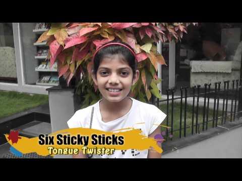 Tongue Twister  - Six Sticky Sticks