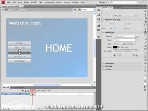 Flash CS4: Build Sites 4: Using Frame Labels