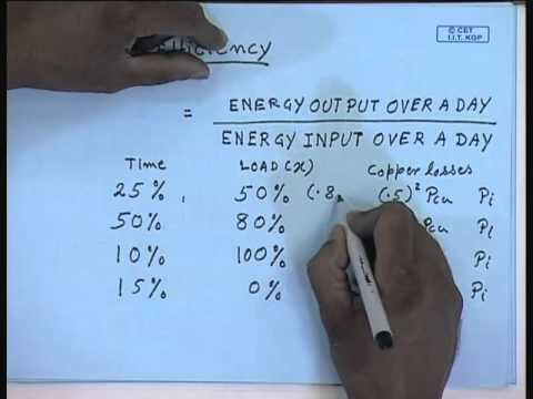 Mod-01 Lec-06 Lecture-06-Efficiency of Single Phase Transformers