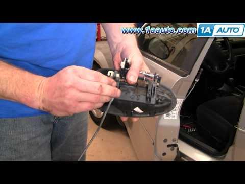 How To Install Replace Broken Front Exterior Door Handle Dodge Stratus 01-06 1AAuto.com