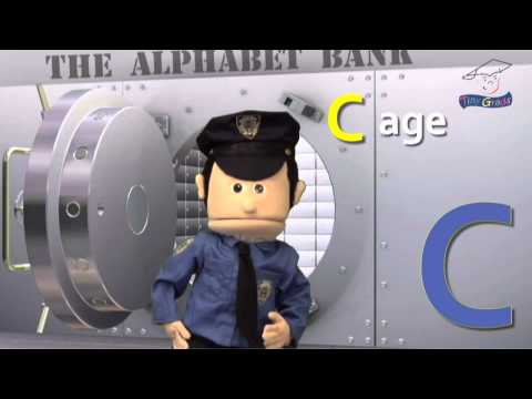 Learn the Alphabet - Letter C - Casey the Cop and the Alpbahet Bank