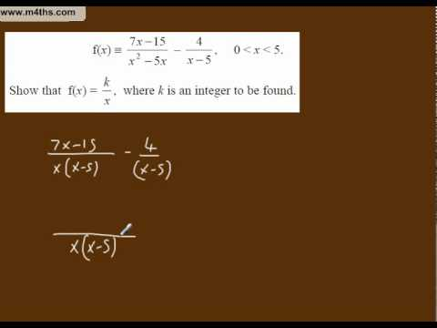 (i) Simplifying Algebraic Fractions Core 3 playlist (simplification and finding k)