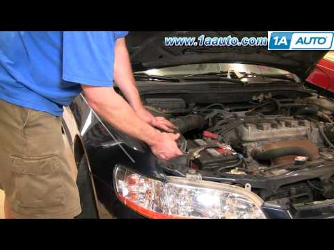 How To Install Repair Replace Engine Air Filter Cleaner Honda Accord 4cyl 98-02 1AAuto.com