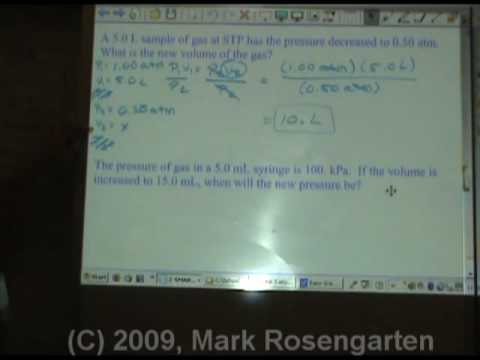 Chemistry Tutorial 3.5b:  Solving Boyles and Charles Gas Law Problems