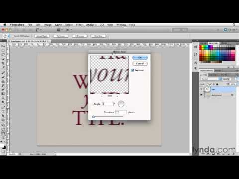 How to work with type layers in Photoshop | lynda.com tutorial