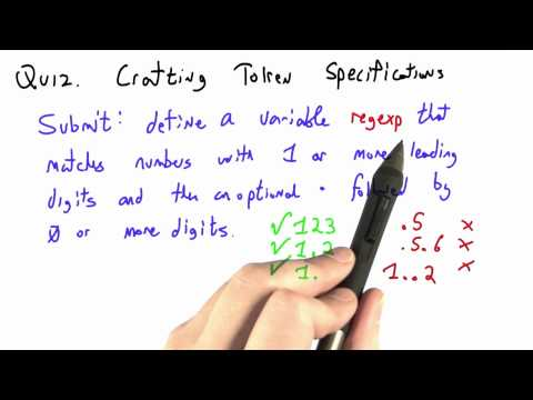 Crafting Token Specifications - CS262 Unit 7 - Udacity