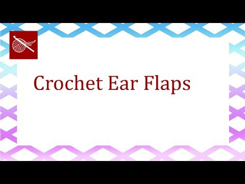 Half Circle -Single Crochet - EarFlaps for Hat