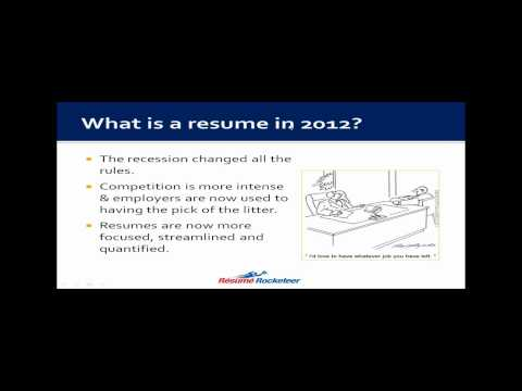 Free Training Video - Positioning Your Resume Above Your Com
