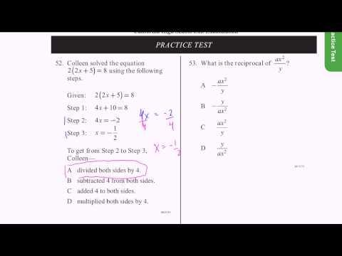 CAHSEE Practice: Problems 52-53