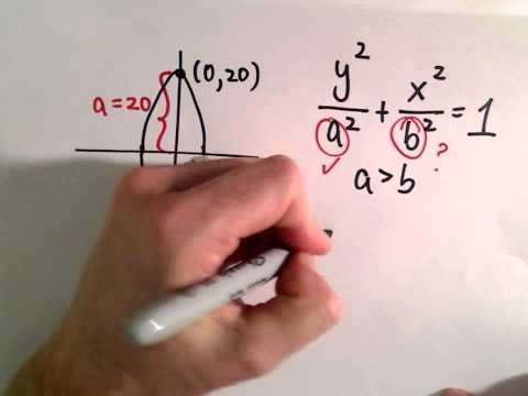 Conic Sections, Ellipse : Find Equation Given Eccentricity and Vertices