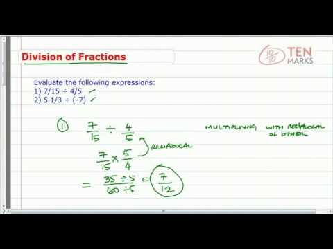 Division of Fractions