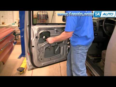How To Install Replace Broken Front Power Window Regulator 2004-12 Chevy Colorado