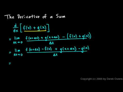 Calculus 3.03j - The Power Rule and the Derivative of a Sum
