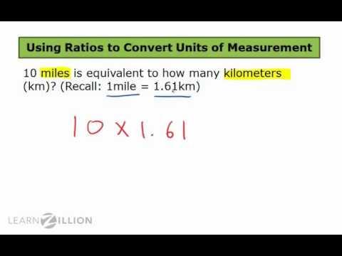Convert between kilometers and miles using ratios - 6.RP.3