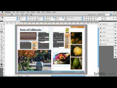 InDesign: How to export to Flash | lynda.com tutorial