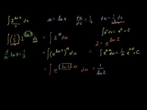 (2^ln x)/x  Antiderivative Example