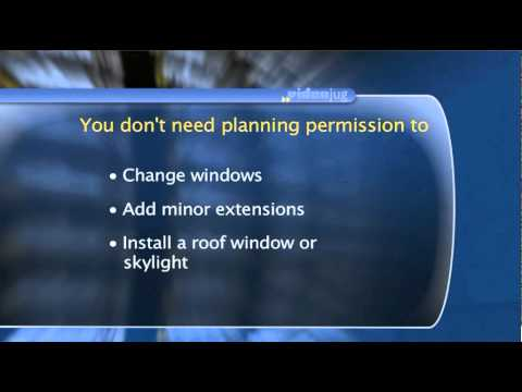 What improvements do I not need planning permission for