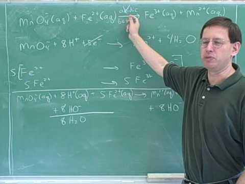Chemistry: Balancing redox reactions (14)