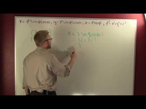 rectangular point to spherical coordinates