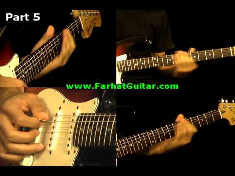 Money Pink Floyd Guitar Cover Part 5  www.farhatguitar.com