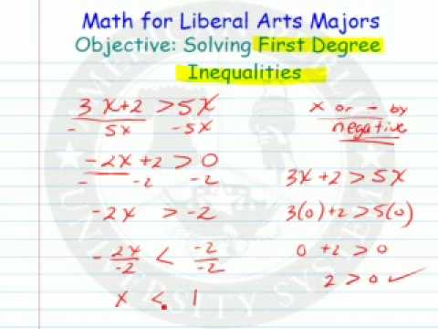 Solving First Degree Inequalities
