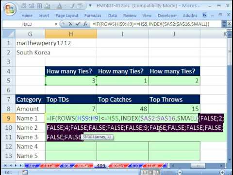 Excel Magic Trick 409: VLOOKUP MAX Value, Return More Than 1 Record