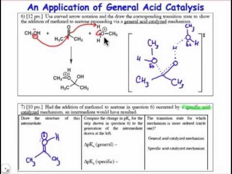 Application of General Acid Catalysis