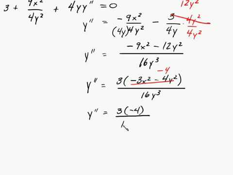 Calculus - Implicit Differentition - Find Second Derivative With Respect to X Intuitive Math Help