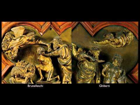 Brunelleschi & Ghiberti, Sacrifice of Isaac, competition panels, 1401-2